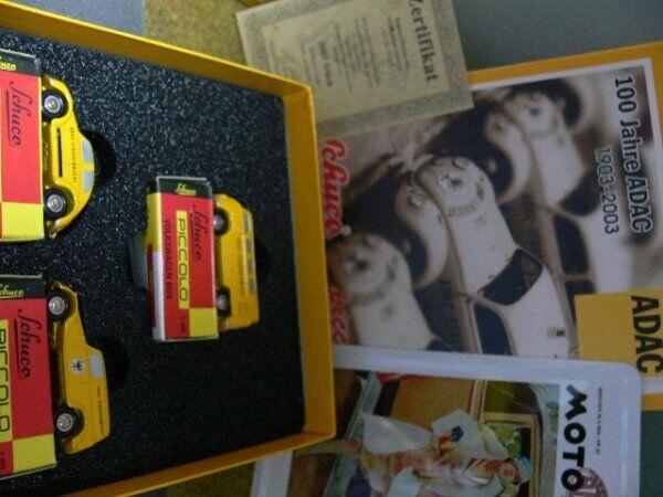 Schuco PICCOLO 100 anni ADAC VW MAGGIOLINO + VW t1+mb170 05217