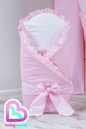 Baby Windeln//Säugling Wickeln Neugeborenes Baumwoll Decke Steppdecke weiß//Beige