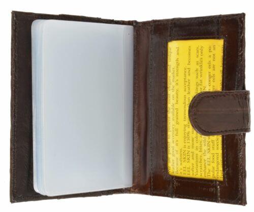 Genuine Eel Skin Credit Card Case with Snap Closure