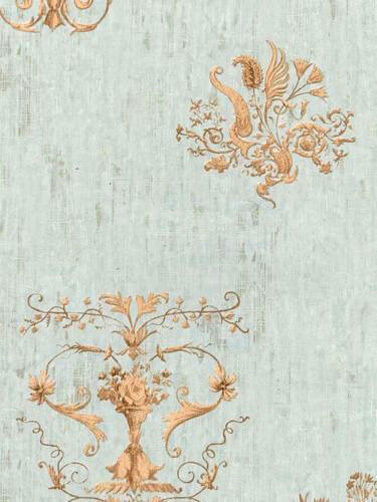 WALLPAPER SAMPLE French Fresco Sconce Scroll Victorian