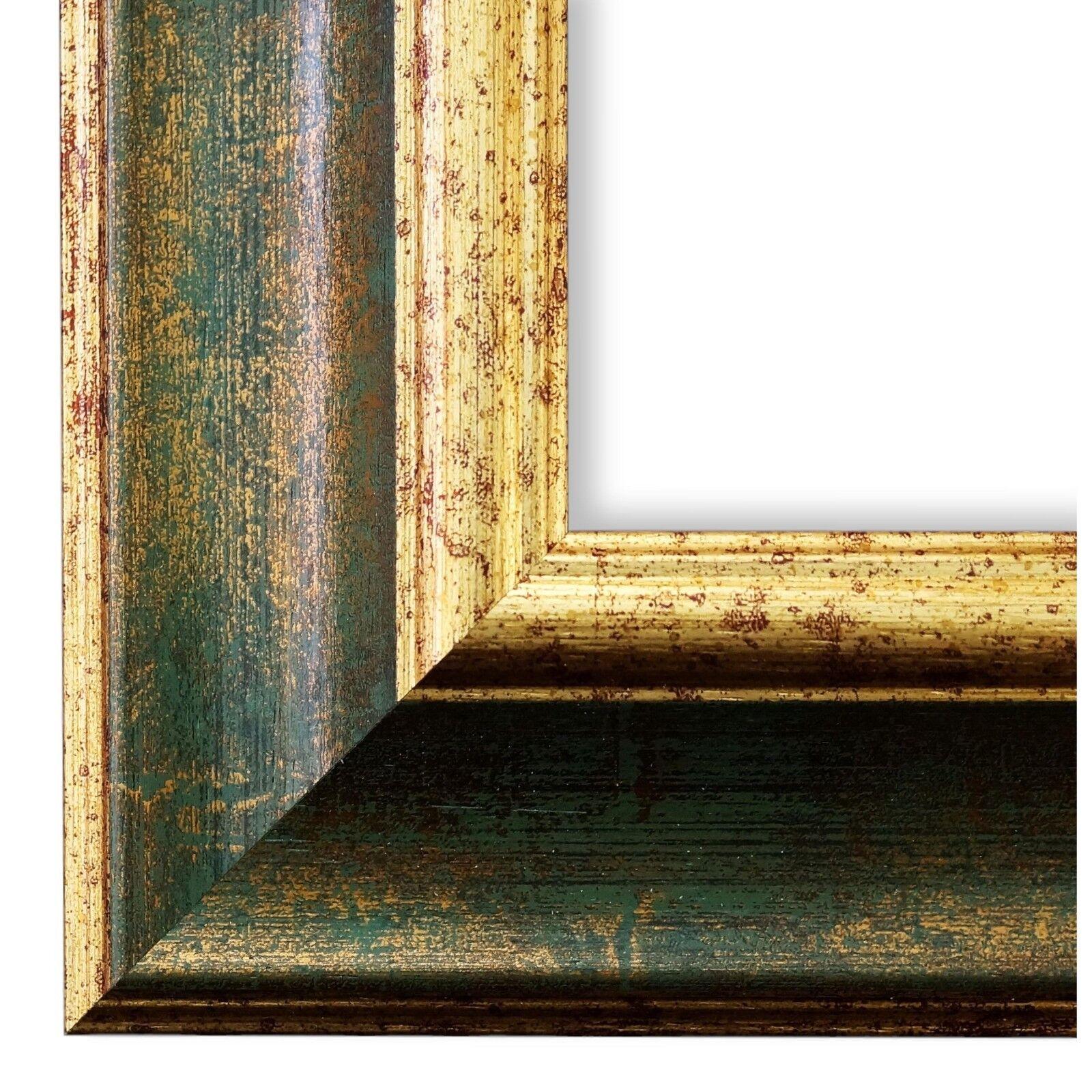 Bilderrahmen Grün Gold Antik Vintage Rahmen Acta 6,8 - NEU alle Größen