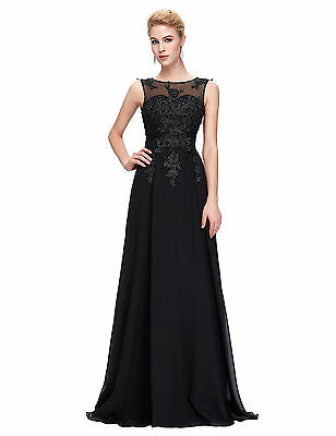 Womens Lace Long WEDDING Bridesmaid Formal Dresses Evening Ball Party Prom Dress