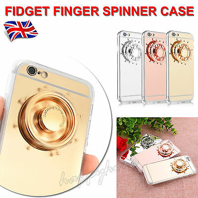 Fidget Hand Spinner Mirror Silicone Case Cover For iPhone 7 6 6s 5 5s se