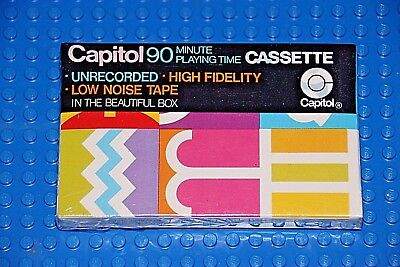 """1 SEALED CAPITOL  /""""THE MUSIC TAPE/""""    60       BLANK CASSETTE TAPE"""
