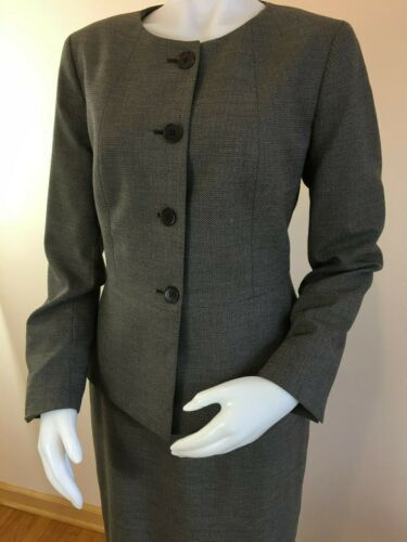 S Suit Button Douwn poule Taglia Gonna Pied Bround Women Girocollo Talbots de Shift SUqRgg