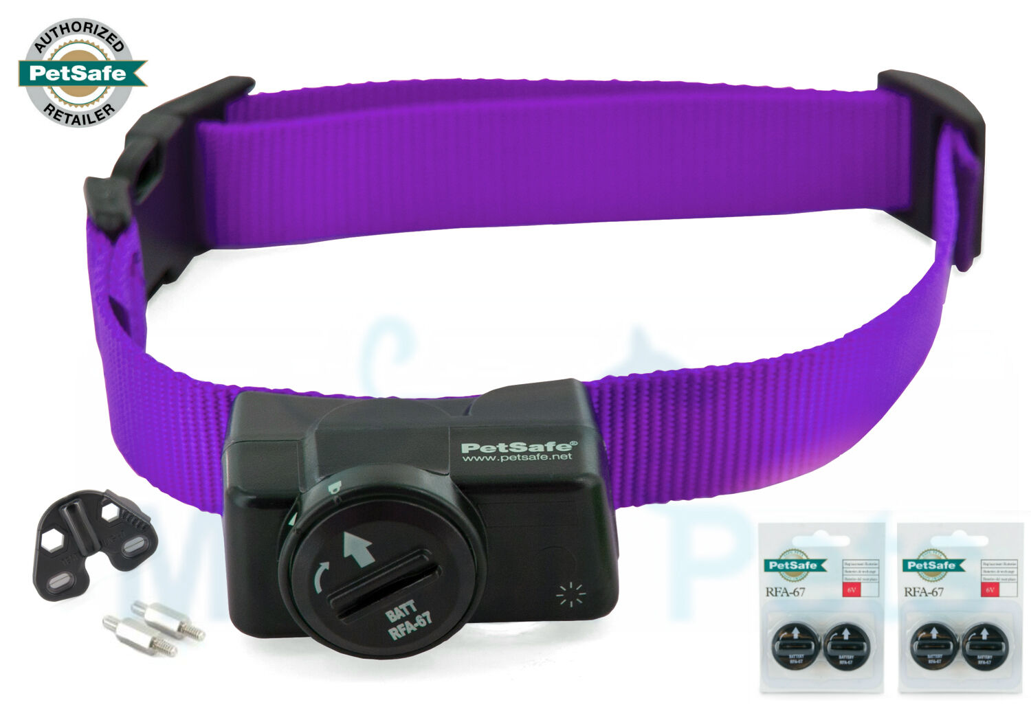 PIF-275-19 Petsafe Purple Wireless Dog Fence Receiver Collar 5 Free Batteries