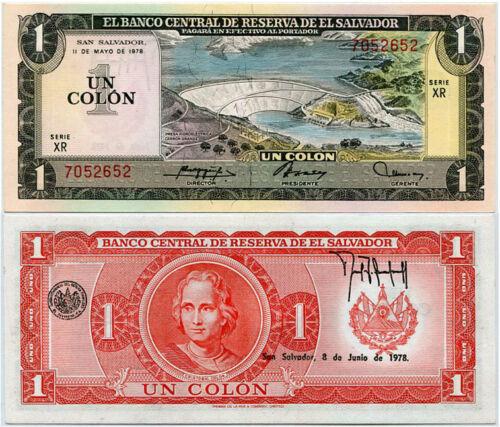 EL SALVADOR 1 COLON 1978 P 125 UNC