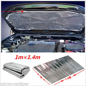 car exhaust muffler turbo hood heat shield cover aluminised barrier mat 1m ebay. Black Bedroom Furniture Sets. Home Design Ideas
