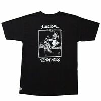 Dogtown X Suicidal Tendencies Lance Mountain Art Skateboard T Shirt Black Medium on Sale