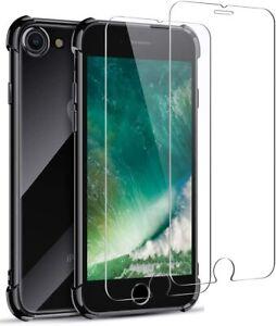 Détails sur Joyguard Coque iPhone Se 2020 [2× Verre trempé Protection écran], Coque iPhone 8