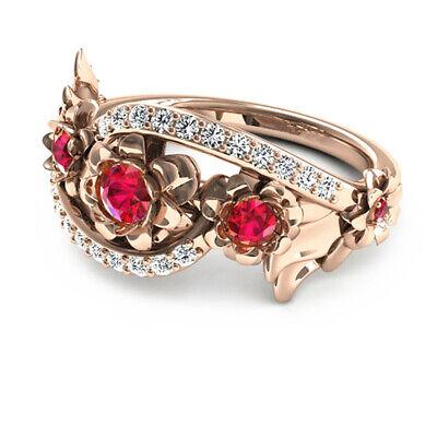 1pcs Ladies Trendy Rings Jewelry Silver Faux Emerald Sapphire Wedding Gifts Jian
