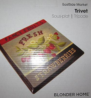 Blonder Home Eastside Market Strawberries Strawberry Fruit Kitchen Trivet