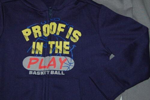 BOYS Hoodie Jacket /& Pants Proof in Play BASKETBALL XS 4-5 S 6-7 M 8 Navy Gray