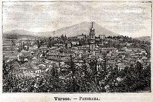 Varese-Panorama-Stampa-Antica-Passepartout-1891