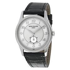 Patek Philippe Calatrava Automatic Silver Grey Dial Platinum Mens Watch