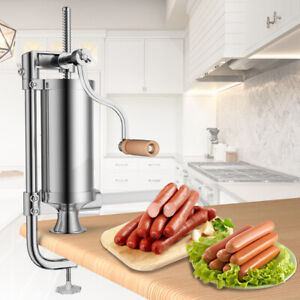 Stainless-Steel-Vertical-Sausage-Stuffer-3L-Maker-Meat-Filler-Commercial-New
