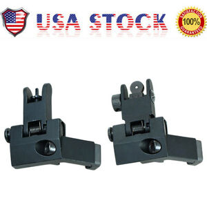 US-Front-and-Rear-Flip-Up-45-Degree-Offset-Rapid-Transition-Backup-Iron-Sight