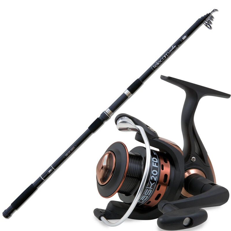 KP3482 Canna pesca Carpa Telecarp Carbon 360 3 lbs + Mulinello 6000        RNR