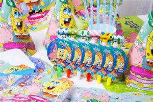 Sponge-Bob-Square-Pantalon-Fete-D-039-anniversaire-Fournitures-sac-vaisselle-Ballon-Decoration