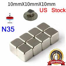 5 200pcs Neodymium N35 Block Square Cube Magnets Strong 10x10x10mm Rare Earth Us