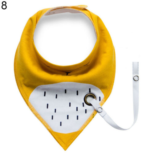 LC/_ Baby Infant Toddler Triangle Bandana Bib Saliva Towel with Pacifier Clip G