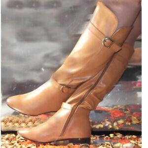 Condimento pecho Ofensa  Botas y botines casual camel baratas caña alta planas Mujeres | eBay