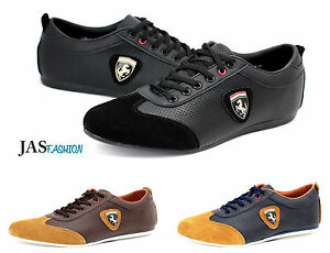 Mens-Lightweight-Driving-Trainers-Leather-Lace-Up-Casual-Designer-Fashion-Shoes
