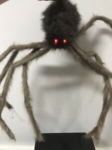 Gemmy-Halloween-Animated-Shaking-Hanging-Brown-Furry-Spider