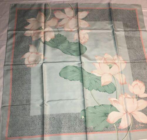 Jim Thompson Lilypad Floral Thai Silk Scarf