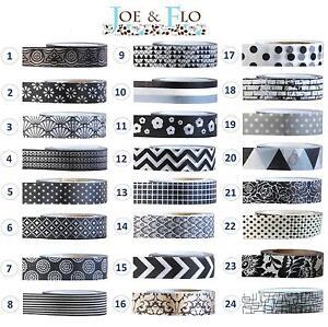 washi klebeband masking tape geschenk und handwerks band schwarz und wei ebay. Black Bedroom Furniture Sets. Home Design Ideas