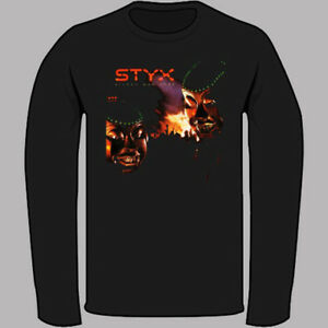 a9ee6f216162 Details about STYX Kilroy Was Here American Rock Band Black Long Sleeve T- Shirt Size S-3XL