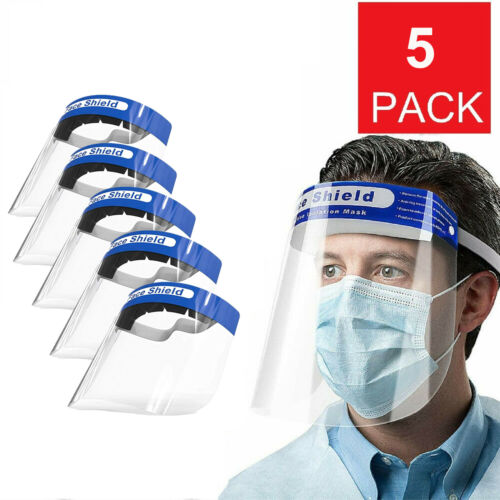 10 Pack Face Shield Safety Protective Full Plastic Face Reusable Anti-Fog Protec