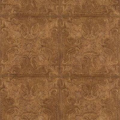 Golden Textured Embossed Ceiling Tile Heavy Duty Unpasted Wallpaper Pa111403 Wallpaper Rolls Sheets