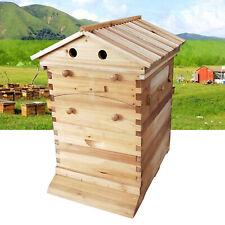 Bee Hive House 7pcs Auto Honey Frames Beehive Beekeeping Brood Wooden Box Kit