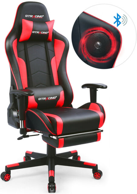 Outstanding Music Office Gaming Chair With Footrest And Bluetooth Speakers Video Game Chair Ncnpc Chair Design For Home Ncnpcorg