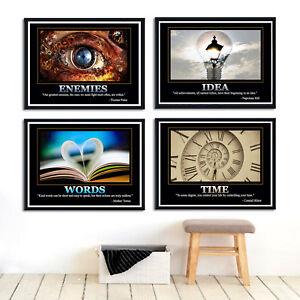 Motivational Quotes Paint Silk Canvas Poster Modern Art Wall Decor Unframed Sc29 Ebay
