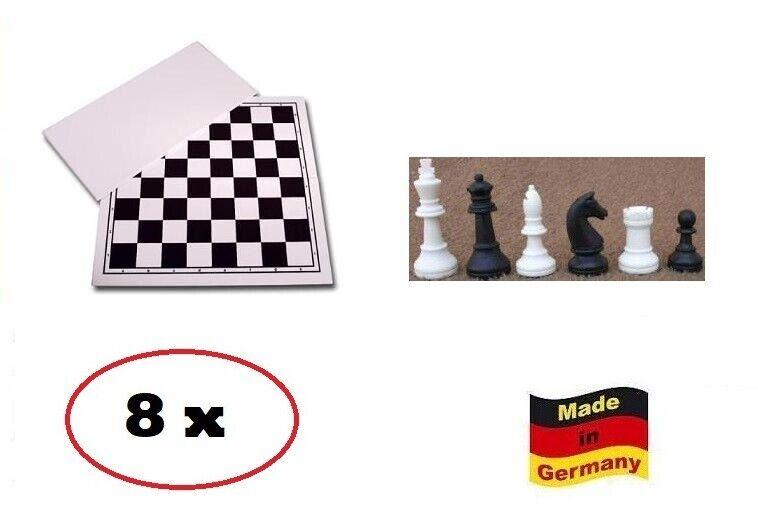 Ajedrez paquete XXL Weiss-negro  profesional  8x tablero de ajedrez, 8x peones kh 93 mm