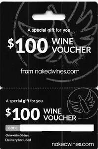 naked wines $100 Wine Voucher   Other Tickets   Gumtree