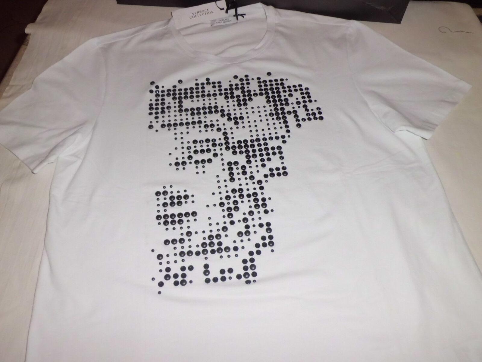 Versace  Collection  T- Shirt  Medusa  Weiß  Größe  XXL