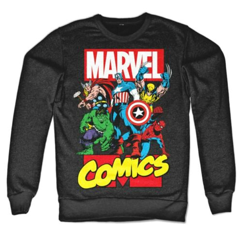 Sweatshirt Marvel Comics Heroes Superhelden Sweatshirt Pullover Herren Hybris