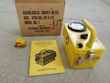 New Listingvictoreen Radiological Survey Meter Cd V717 Model 1 Geiger Counter Remote Cord