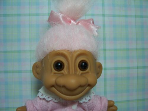 "5/"" RUSS TROLL DOLL NEW IN ORIGINAL WRAPPER FIFTIES GIRL IN POODLE SKIRT"