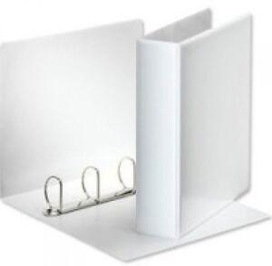 10 white a4 presentation 4 d ring ring binders folder file 50mm np