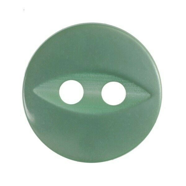 Pack of 5 Hemline Fish Eye Craft Clothing 2 Hole Sew Through Buttons 16.25mm