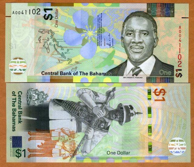 Bahamas 1 Dollar 2017 P Unc Redesigned