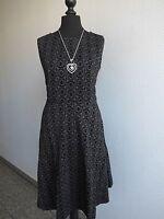 Joe Browns Dress Allover Flock print Graphic Size 40 - 58 Gray Black (957) NEW