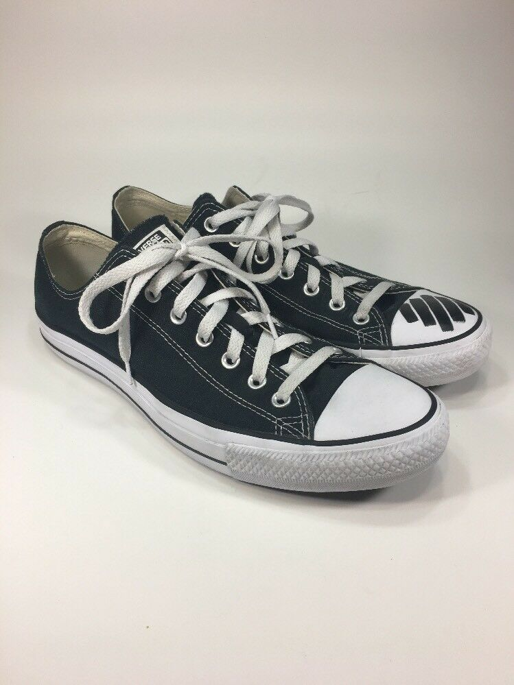 Converse All Star Shoes Low Black/White Custom Off-White Shoes Star Mens Size 12 M Virgil 8742a5