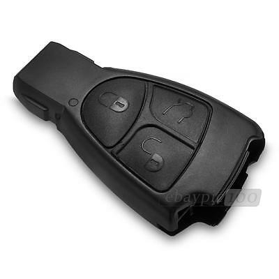 Replacement Keyless Entry Remote Key Fob Shell Case 3 Buttons for Mercedes
