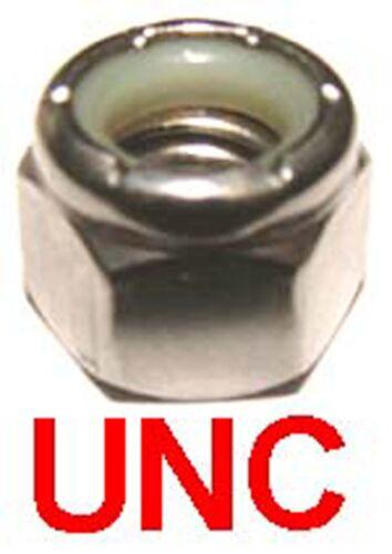 x5 1//2 UNC 13tpi 1//2-13 UNC Inox Nylock 3//4 af Inoxydable Écrous Nyloc