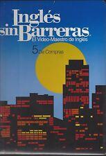 Ingles sin Barreras - Vol. 5 - CD, VHS, Manual and Workbook ~ De Compras ~  S26